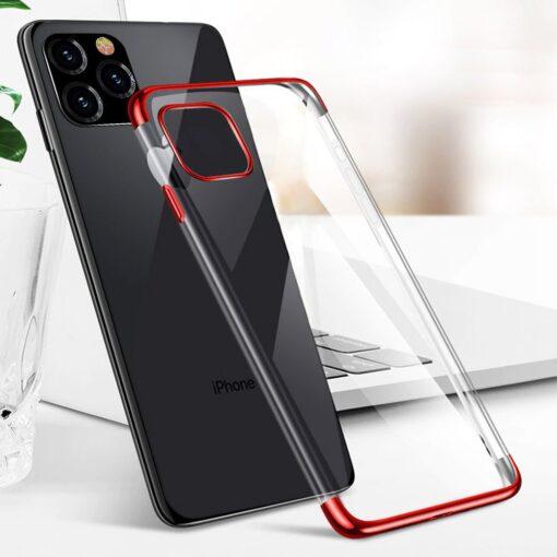 iPhone 11 ümbris silikoonist punaste läikivate servadega 11