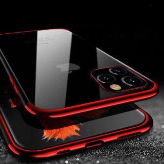 iPhone 11 ümbris silikoonist punaste läikivate servadega 12