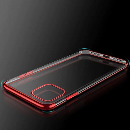 iPhone 11 ümbris silikoonist punaste läikivate servadega 2