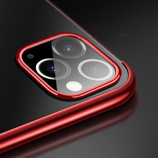 iPhone 11 ümbris silikoonist punaste läikivate servadega 3