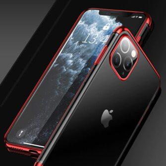 iPhone 11 ümbris silikoonist punaste läikivate servadega 4