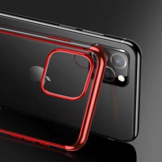 iPhone 11 ümbris silikoonist punaste läikivate servadega 5