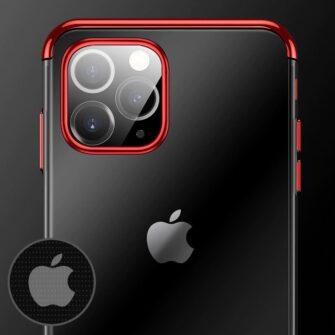 iPhone 11 ümbris silikoonist punaste läikivate servadega 7
