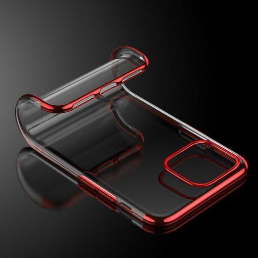 iPhone 11 ümbris silikoonist punaste läikivate servadega 8