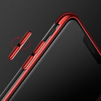 iPhone 11 ümbris silikoonist punaste läikivate servadega 9