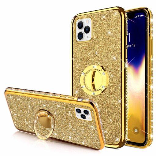 iPhone 11 ümbris teemant kuldne 2