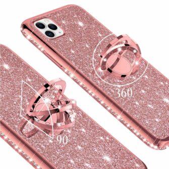 iPhone 11 ümbris teemant roosa silikoonist 1