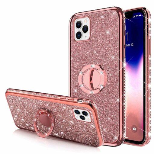 iPhone 11 ümbris teemant roosa silikoonist 2