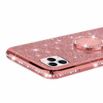 iPhone 11 ümbris teemant roosa silikoonist 3