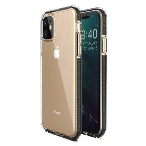 iPhone 11 silikoonist kate mustade servadega