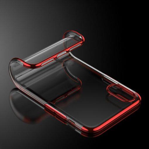 iPhone XS ja X ümbris silikoonist punaste servadega 1