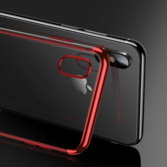 iPhone XS ja X ümbris silikoonist punaste servadega 4
