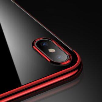 iPhone XS ja X ümbris silikoonist punaste servadega 7