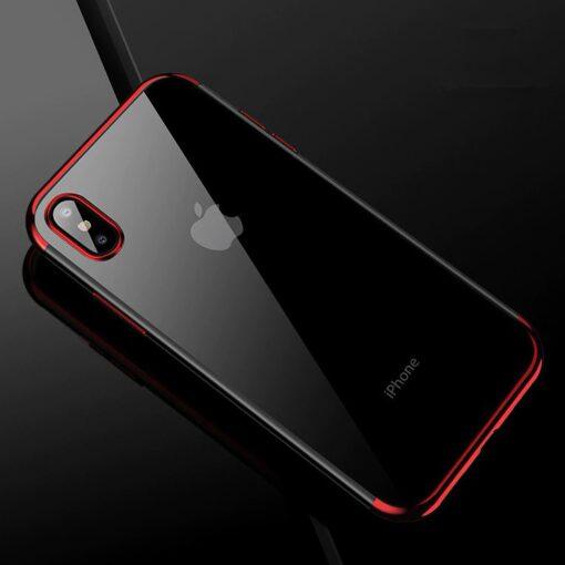 iPhone XS ja X ümbris silikoonist punaste servadega 9