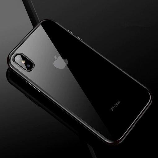 iPhone XS ja X kaaned silikoonist läikivate servadega must 2