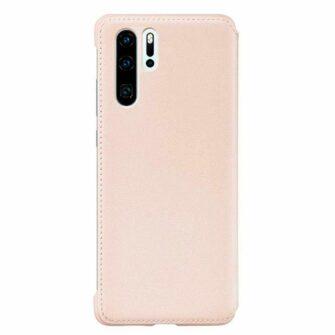 Huawei P30 kaitsekaaned roosa kunstnahk 2