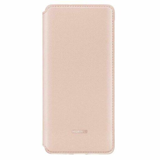 Huawei P30 kaitsekaaned roosa kunstnahk 3