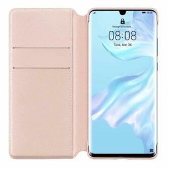 Huawei P30 kaitsekaaned roosa kunstnahk 4