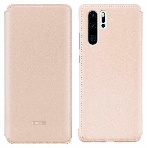 Huawei P30 kaitsekaaned roosa kunstnahk 5