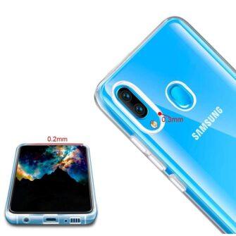 Samsung A40 ümbris silikoonist läbipaistev 3