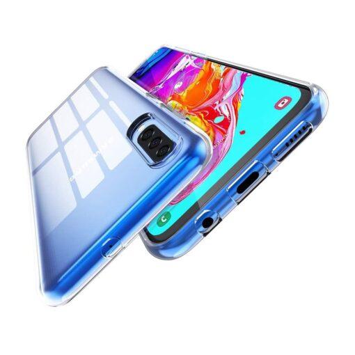 Samsung A70 silikoonist ümbris läbipaistev 2