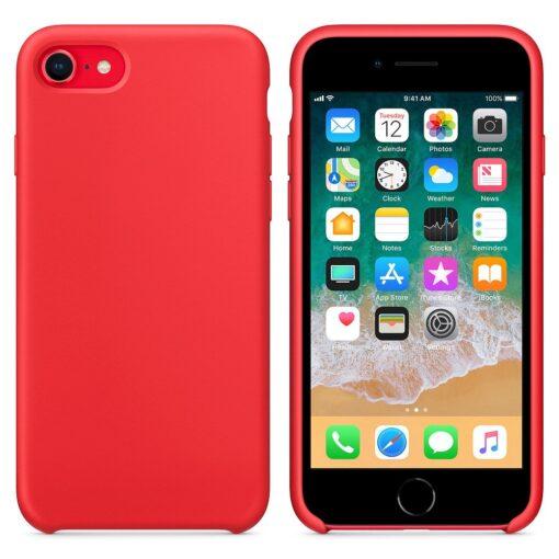 iPhone SE 2020 iPhone 8 iPhone 7 silikoonist kaaned punased 2