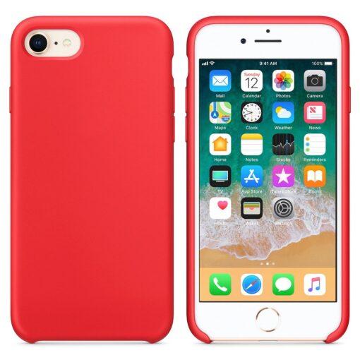 iPhone SE 2020 iPhone 8 iPhone 7 silikoonist kaaned punased 3