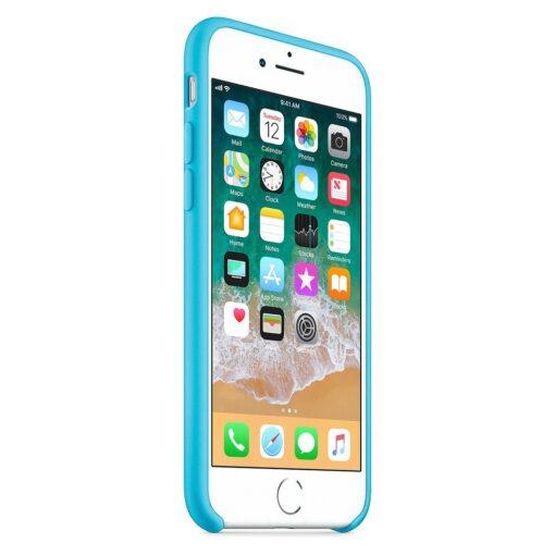 iPhone SE 2020 iPhone 8 ja iPhone 7 pehmest silikoonist helesinine ümbris 1