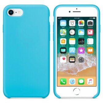 iPhone SE 2020 iPhone 8 ja iPhone 7 pehmest silikoonist helesinine ümbris 3