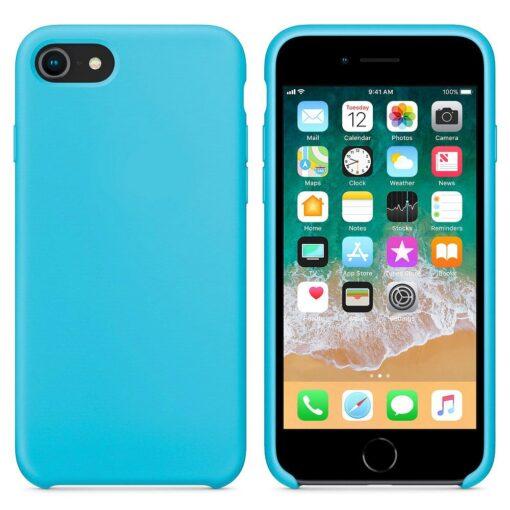iPhone SE 2020 iPhone 8 ja iPhone 7 pehmest silikoonist helesinine ümbris 4