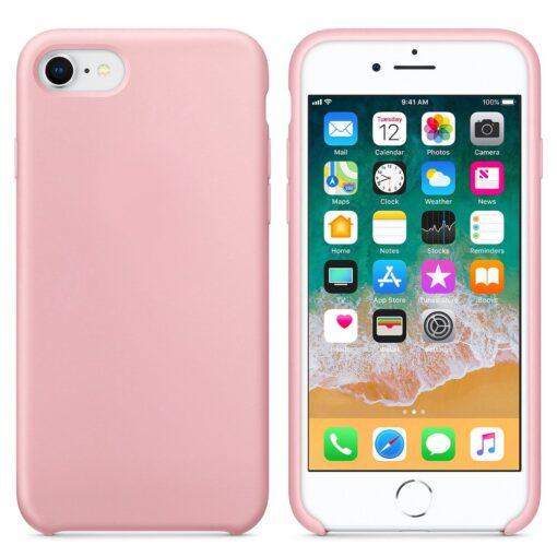 iPhone SE 2020 iPhone 8 ja iPhone 7 pehmest silikoonist roosa ümbris 1
