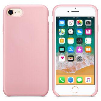 iPhone SE 2020 iPhone 8 ja iPhone 7 pehmest silikoonist roosa ümbris 2