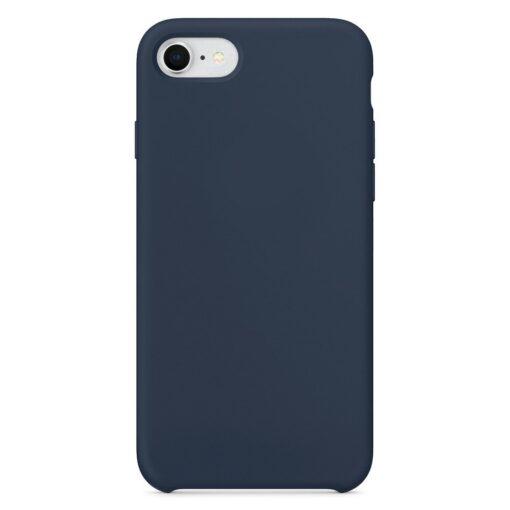 iPhone SE 2020 iPhone 8 ja iPhone 7 pehmest silikoonist tumesinine ümbris 1