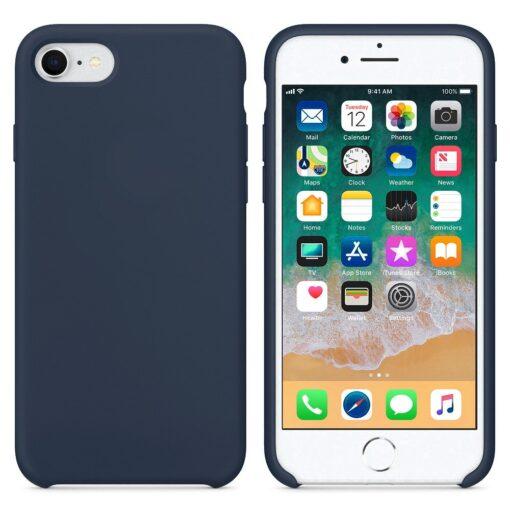 iPhone SE 2020 iPhone 8 ja iPhone 7 pehmest silikoonist tumesinine ümbris 2