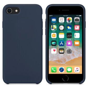 iPhone SE 2020 iPhone 8 ja iPhone 7 pehmest silikoonist tumesinine ümbris 3