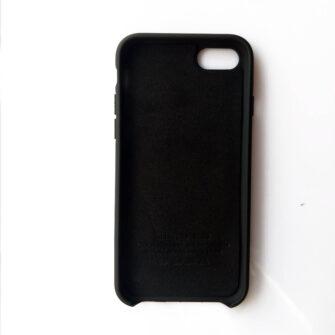iPhone Se 2020 iPhone 8 ja iPhone 7 silikoonist kaaned must seest