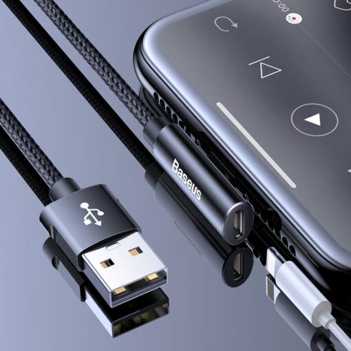 iPhone usb to lightning 2x audio kaabel 8