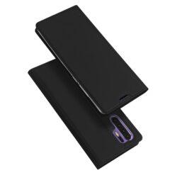 Huawei P30 Pro kaaned kunstnahast kaarditaskuga must