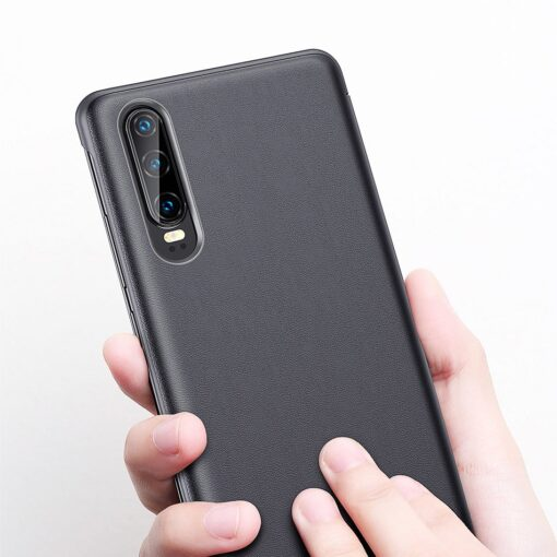 Huawei P30 Smart View Flip Cover Bookcase kaaned Smart Window khaki 13