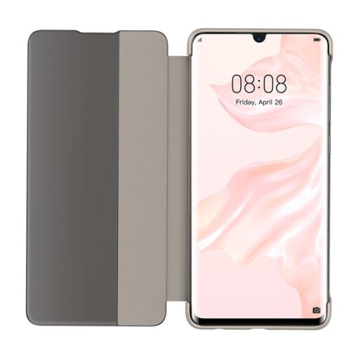 Huawei P30 Smart View Flip Cover Bookcase kaaned Smart Window khaki 4