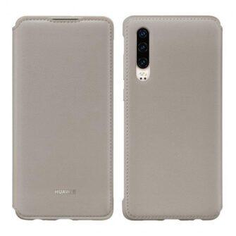 Huawei P30 kaaned flip khaki Huawei originaal