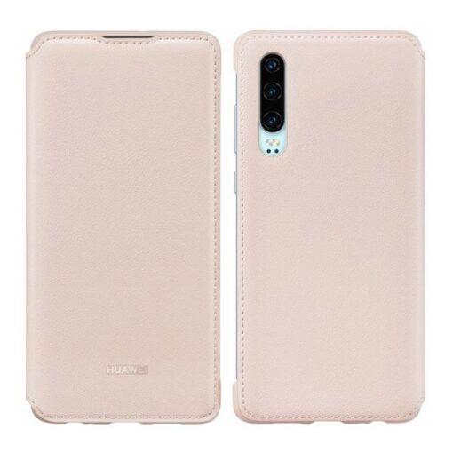 Huawei P30 kaaned kaarditaskuga kunstnahast roosat värvi