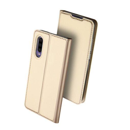 Huawei P30 kaaned kaarditaskuga DUX DUCIS kuldset värvi (1)