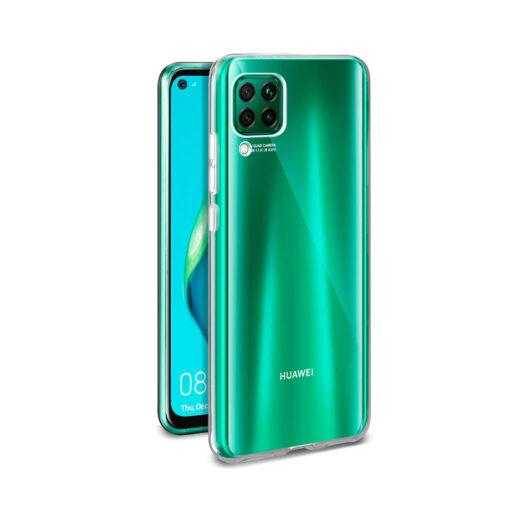 Huawei P40 Lite kaaned silikoonist läbipaistev eest ja tagant