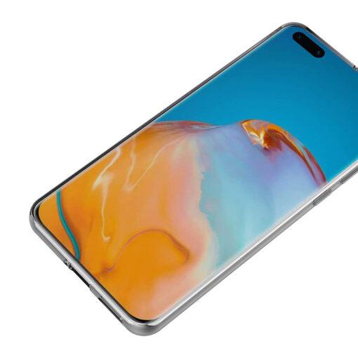 Huawei P40 kaaned silikoonist läbipaistev tagant eest