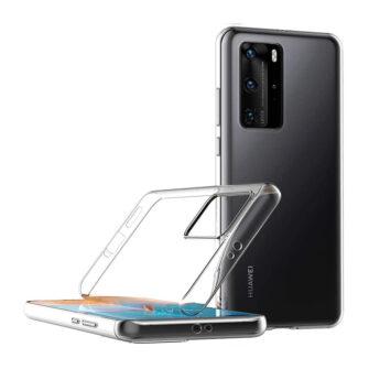 Huawei P40 pro kaaned silikoonist läbipaistev küljelt