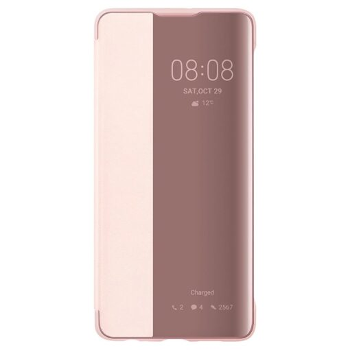 Huawei Smart View Flip Cover Bookcase kaaned koos nutika aknaga mudelile Huawei P30 roosa 2