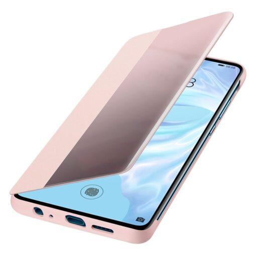 Huawei Smart View Flip Cover Bookcase kaaned koos nutika aknaga mudelile Huawei P30 roosa 5