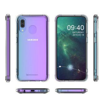 Samsung A20E ümbris silikoonist tugevate servadega 10
