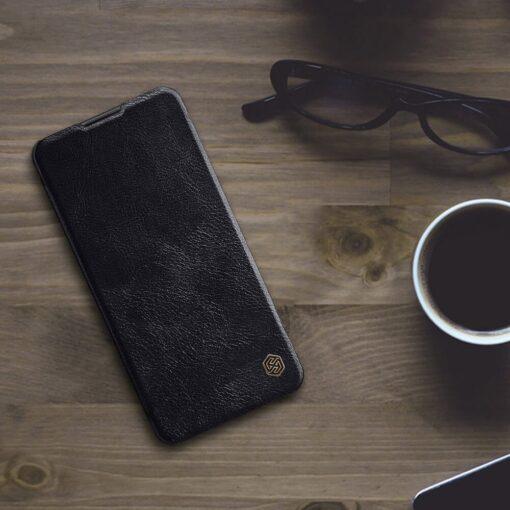 Samsung A21S kaaned nahast kaarditaskuga Nillkin Qin must 10